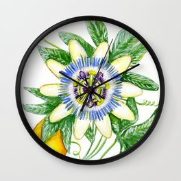 Luscious Passion Flower Wall Clock