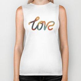 "The Love Series #17 - ""Love"" (typography) Biker Tank"