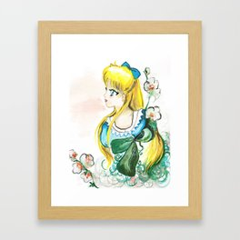 Sailor Venus White Flower Framed Art Print