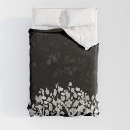 The Zen Tree - White on Black Duvet Cover