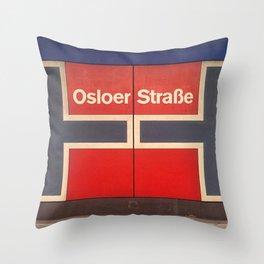 Berlin U-Bahn Memories - Osloer Straße Throw Pillow