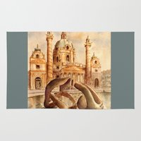 vienna Area & Throw Rugs featuring Karlskirche, Vienna, Austria by Vargamari