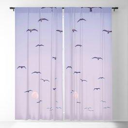 Seagulls & Moon by Murray Bolesta Blackout Curtain