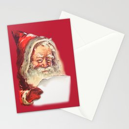 SANTA CLAUS READING A LETTER Stationery Cards