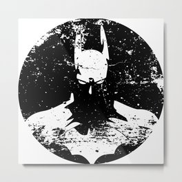 The Bat Returns Grunge Metal Print