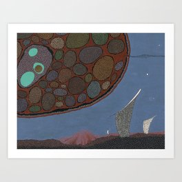 monuments to the sky wheel Art Print