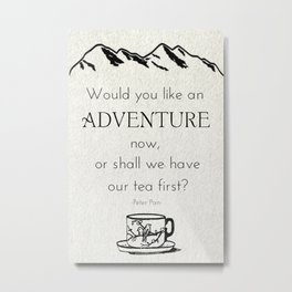 Would You like An Adventure Now Metal Print