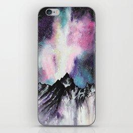 """Starruption"" Watercolor Mountain Scene iPhone Skin"