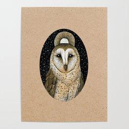 Golden owl Poster