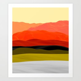 Mountains in Gradient Art Print