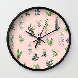 pink garden Wall Clock