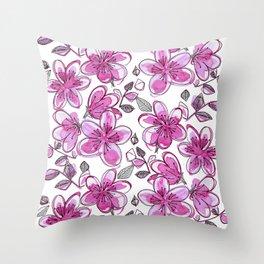 Para Para Sakura Throw Pillow