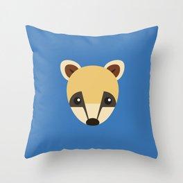 Coati Throw Pillow