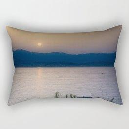 Fisherman in blue time Rectangular Pillow