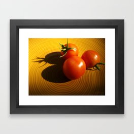 Abstract Tomato Framed Art Print