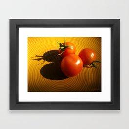 Abstract Tomato Framed Art Print