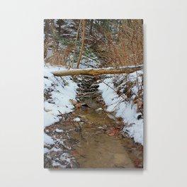 River bed bridge Metal Print