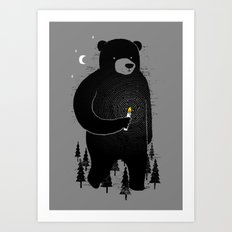 Lost in the wood Art Print