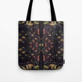 Tropical Latticework Pattern Tote Bag