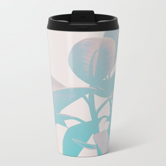 Pastel Botanic Metal Travel Mug