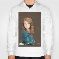 emma stone Hoodies featuring Emma Stone by Artsy Rosebud