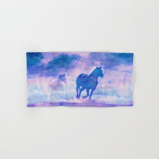 Horses run Hand & Bath Towel