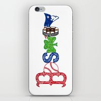 patriots iPhone & iPod Skins featuring Boston by Michela Deck