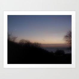 Misty Evening  Art Print