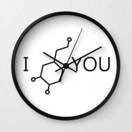 I Love You (Dopamine) Wall Clock