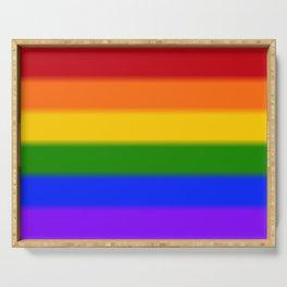 Rainbow Gay Pride Flag Serving Tray