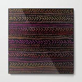 FUNKY RHYTHM - Collab Art with Sreetama Ray, Bright Bold Fun Pattern Collaboration Piece Metal Print
