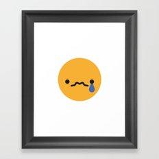 Emojis: Sad Framed Art Print