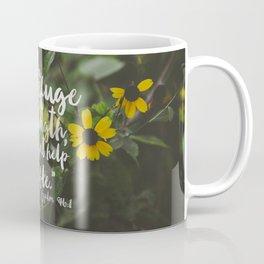 Psalm 46 1 Encouraging Scripture Black Eyed Susan Wildflower Photograph Coffee Mug