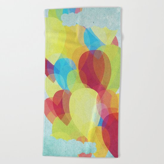 Happy Sky Beach Towel