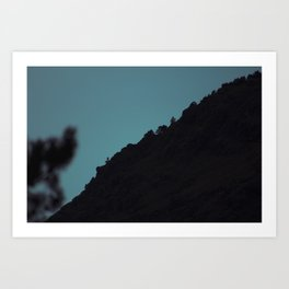 Mountain Blue Art Print