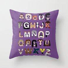 Horror Icon Alphabet Throw Pillow