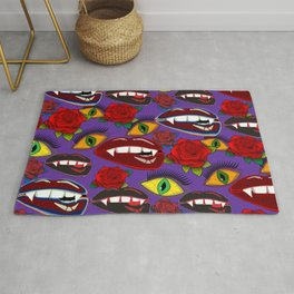 Creepy Girlish Pattern Rug
