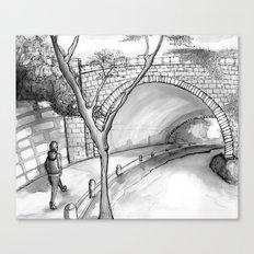 Bronx Park Scene Canvas Print
