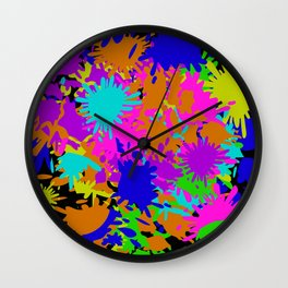 Splatoon Ink Fight Pattern Wall Clock