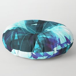 Iceless - Geometric Abstract Art Floor Pillow