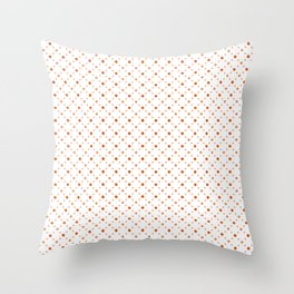 Criss Cross Dots Throw Pillow