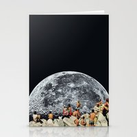 collage Stationery Cards featuring MOONRISE  by Beth Hoeckel