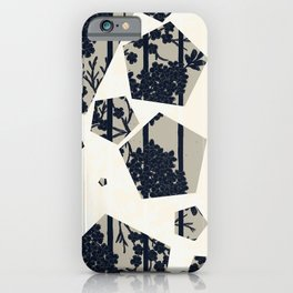 Shapes & Flowers in Mono Toned By Danae Anastasiou iPhone Case