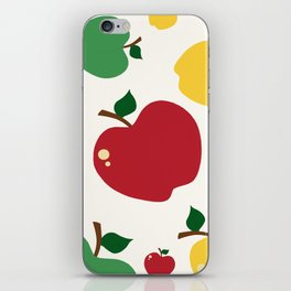 colourful apples iPhone Skin
