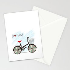 I {❤} My Bike Stationery Cards
