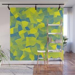 Geometric Shapes Fragments Pattern yb Wall Mural