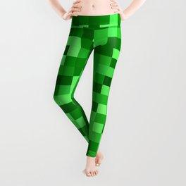 Mosaic in green tones Leggings