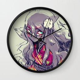 Fox girl sketch Wall Clock