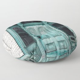Turquoise Door Photography Floor Pillow