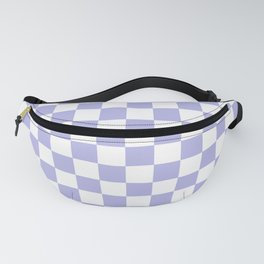 Gingham Soft Lavender Blush Checked Pattern Fanny Pack